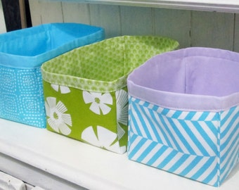Nesting Fabric Storage Boxes PDF Pattern Digital Pattern Easy Sewing Pattern Fabric Storage Bins