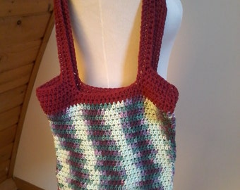 Crochet shopping bag