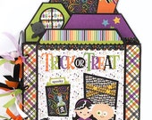 Halloween Scrapbook Kit or Premade Mini Album Pre Cut with Instructions