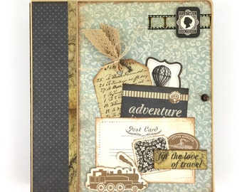 Travel Scrapbook Mini Album Kit or Premade Vacation Vintage Europe Journal