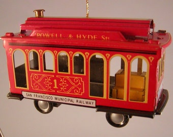 Schylling Tin Cable Car Ornament 1998 Collector Series Powell Hyde in Box