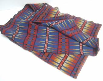 Vintage Wool Design Blanket by Woolrich c 1960