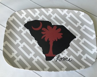 South Carolina Palmetto Moon Melamine Platter