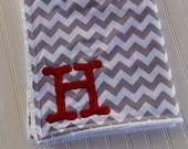 Chevron Blanket, Monogrammed Blanket