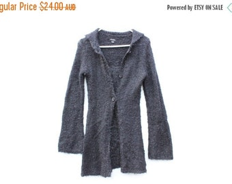 10,000 LIKES 7 Day Sale Grungy 90s Mohair Blend Fitted Cardigan w/ Flared Sleeves