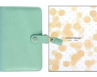 Webster's Pages Color Crush Binder Sky Blue or Mint Green