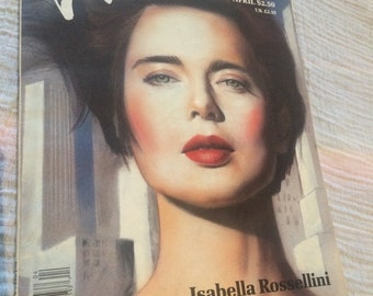 1988 INTERVIEW Magazine deat. ISABELLA ROSSELLINI