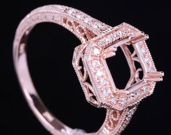 Morganite Ring Rose Gold Sterling Morganite Diamonds Gold Plated Rose Gold Antique Engagement Ring Anniversary ring