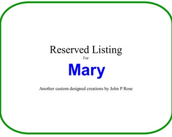 Lazy Susan for Mary