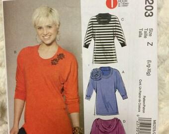 McCall's Misses Womens Tunics Sewing Pattern 6203 Uncut Size 16-18-20-22