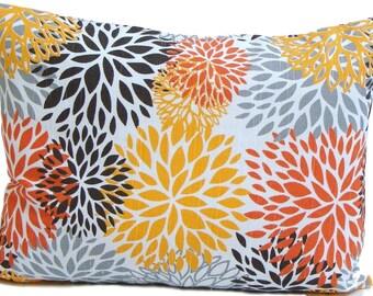 Floral Lumbar Pillow.12x16 or 12x18 inch.Pillow Cover.Decorative Pillows.Housewares.Home Decor.Mums.Throw Pillow.Accent .Cushion Cover. cm