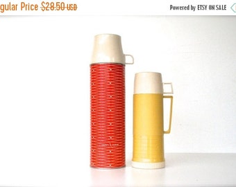 ON SALE Red Vintage Thermos