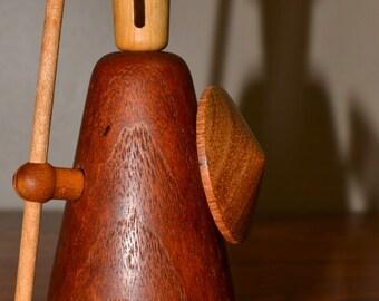 1 Jacob Jensen Mid Century Danish Modern Teak Wood Viking Figure Toy Bojesen Era