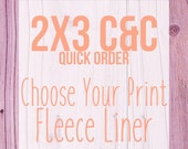 2x3 C&C Cage Choose Your Print Fleece Cage Liner