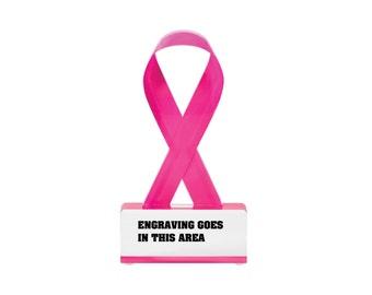 Awareness Ribbon- Pink Crystal Award (BLDT25)