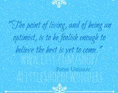 Peter Ustinov Quote Digital Download Image