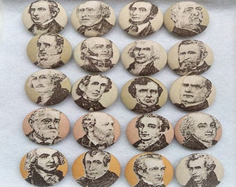 Set of 20 32mm Fabric Button Covered Buttons Handmade People Button