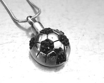 Soccer Cremation Urn, Football Cremation Urn, Urn Locket, Cremation Locket, Memory Locket, Cremation Jewelry