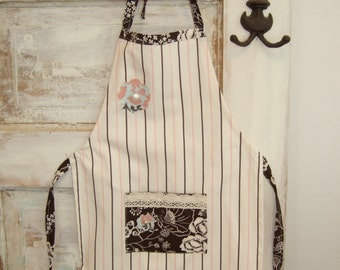 Striped Apron Little Girl Size 4 to 6