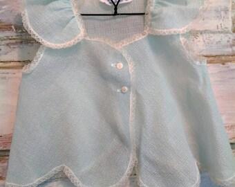 Vintage Newborn Dress | Vintage Blue Baby Dress | Vintage Cute Togs | Newborn Gift | Ellie Ann and Lucy