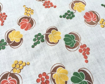 Vintage American Feedsack Fabric - Autumnal grapes