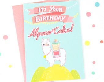 Printable Alpaca Birthday Card