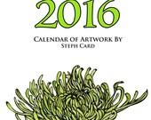 2016 Desktop Calendar (cd case) 12 original designs