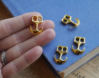 5 pcs Antique Gold Nautical Anchor Clasp Rope Connector Charms Bracelet Necklace 23mm (GC2794)