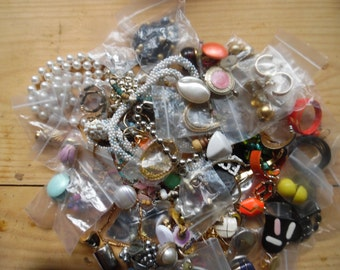 Vintage jewelry collection of whole and detached pieces  matching as well...10