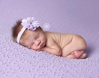Purple Headband, Baby Headband, Toddler Headband- Lilac Purple Chiffon Flower Headband