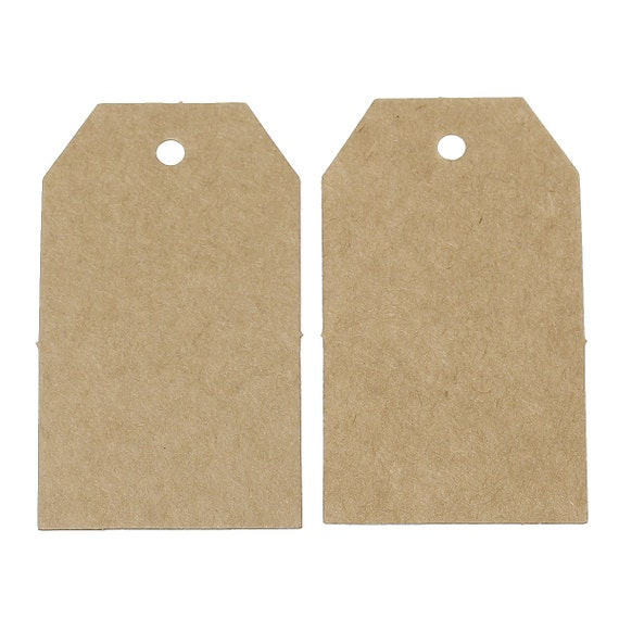 10pcs brown paper label price tags 70x40mm packaging for Price tags for craft shows