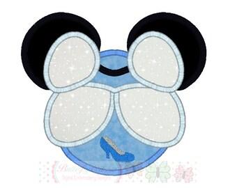 Mouse Cindergirl Digital Embroidery Applique Design