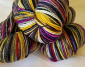 Saturated SPARKLE Sock Selfstriping  12 color  The 12 Days Of Christmas