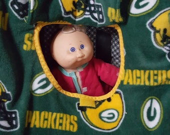 Green Bay Packers Print baby Carrier Cozy Cover Up For Infant Car Seats