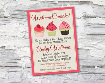 Sweet Little Cupcake Invitation