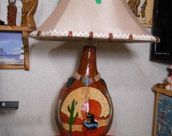 gourd base lamp