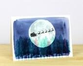 30% SALE - Santa's Sleigh Christmas Card