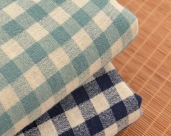 Soft Plaid Cotton Linen Fabrics MJ457