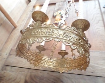 Antique French Church gothic revival Lustre Chandelier v584 Free shipping