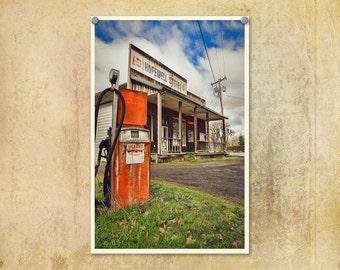Oregon Photo | Americana Print | Old Gas Pump | Abandoned Oregon | Country Photograph | Oregon | Rural Oregon Photo | Vintage Style Photo