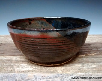 Iron Red Ceramic Cereal Bowl - Handmade Pottery - Red Stoneware