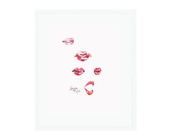 Lips Giclee Print