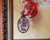 Forest Heather Lavender Necklace, Flower Jewelry, Long Necklace, Woodland Heather, Jewelry, Necklace for Woman, Terrarium Necklace, BUSTANI