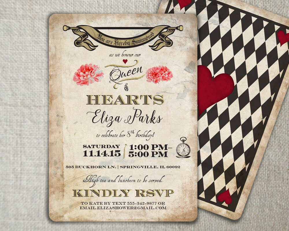 mad hatter birthday invitation mad hatter tea by peartreespace