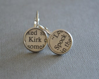 Star Trek Jewelry Kirk and Spock Earrings
