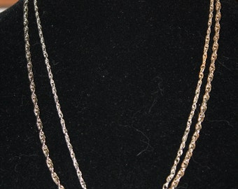 Two Vintage Rope Chains, Silvertone