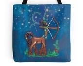 Centaur Girl Tote Bag, Sagittarius Tote Bag, Zodiac Tote Bag, Geeky Tote Bag, Centaur Woman Tote Bag, Astrology Tote Bag, Archery Tote Bag