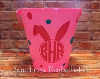 Monogram Bunny Easter Basket