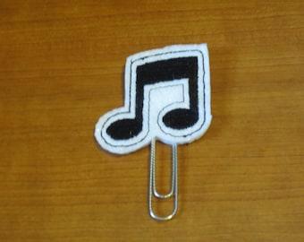 Eighth notes clip/fridge magnet