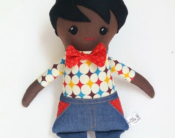 "boy doll, african doll, boy rag doll, boy cloth doll, african rag doll, african cloth doll, african american doll, 18"" heirloom doll"